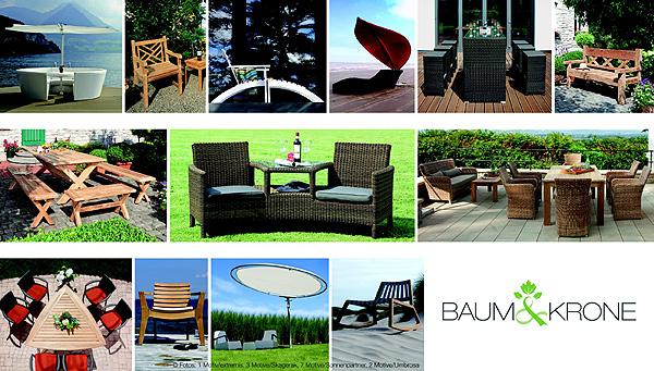 Produktauswahl, Designer Gartenmöbel vom Onlineshop Baum & Krone