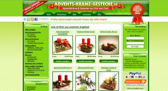Adventkranz, Adventsgestecke und mehr